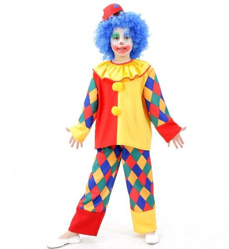 Clown Chico 2tlg. Kinderkostüm Gr (Kinder Clown Kostüm)