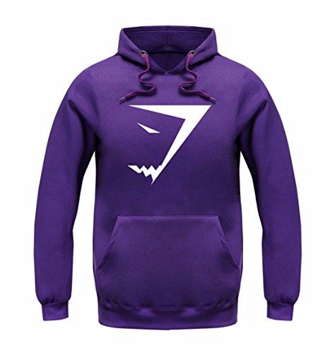 Men's Fashion Shark Sweatshirts Casual Sweatshirts purple