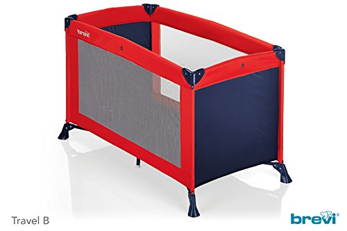 Brevi 610 Travel 141 Kinderbett, Rot/Blau