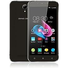 """Ding Ding - Smartphone móvil libre 3G de 5"""" 1280 x720 HD(Android 6.0, Pantalla 5.0"""", Quad Core, 8GB ROM, 1GB RAM, Dual SIM, ), Negro"""