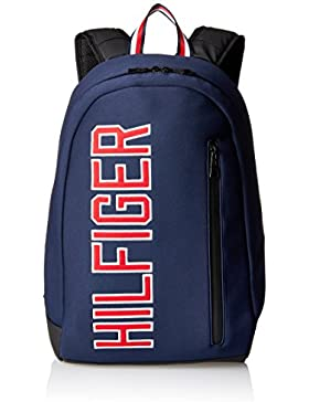 Tommy Hilfiger Herren Th Varsity Backpack Rucksack, Blau (Tommy Navy), 20 x 47 x 33 cm