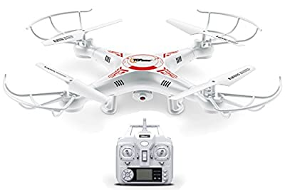 Top Race® TR-Q511 Quad Cam, Ultra Stable 4 Channel Quad Copter Remote Control Drone with Camera & HD Video Recording, Features 1 Key Return and Headless Mode Option from Top Race