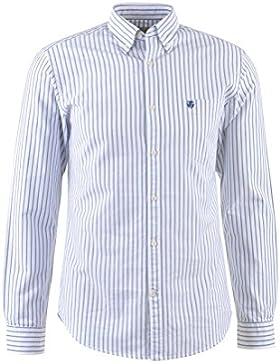 SELECTED HOMME Herren Hemd, weiß-blau