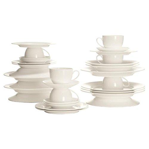 Maxwell & Williams BC188232 Cashmere round Kaffeeservice, Tafelservice, Geschirrset, 30-teilig, in Geschenkbox, Porzellan Cashmere Bone China