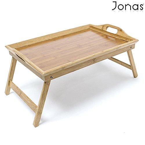 Jonas–Tablett Frühstück im Bett, zusammenklappbar, Bambus/Tablet Bettwäsche bambus faltbar, lackiert Holz mit modularen Griffe–Ideal für Moment der Entspannung auf Ihr Sofa oder auf Ihrem Bett–Garantie Hervorragende Qualität. Maße: LxBxH: 50x 30x 7cm.