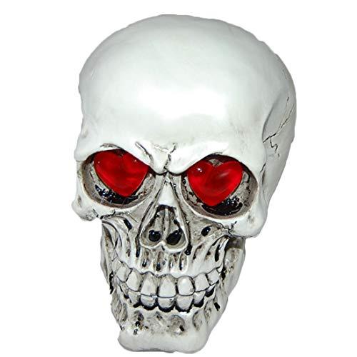 (Yammucha Lebensgroße Replik realistische menschliche Schädel Kopf Knochen Modell Halloween Dekoration Party Supplies)