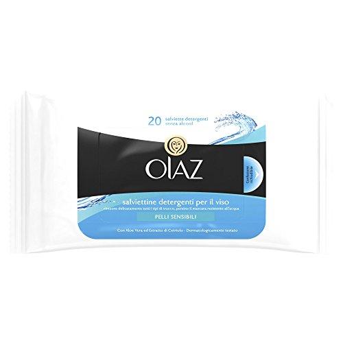 Olaz Salviettine detergenti per il viso Pelli Sensibili in confezione richiudibile da 20pezzi