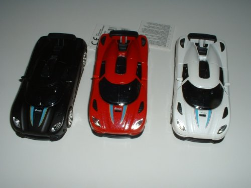 Lamborghinis aus Metallspritzguss mit Licht und Soundgeräuschen in den Farben schwarz-weiss-rot