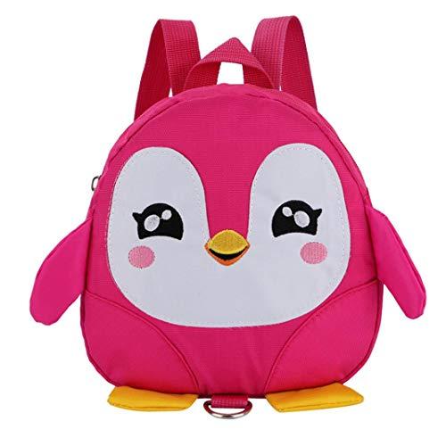 OdeJoy Kinder Baby Mädchen Jungen Karikatur Tier Rucksack Kleinkind Schule Tasche Kind Schön Pinguin Schulranzen Rucksack Segeltuch Schulrucksack Students Bags (Rosa,1 PC)