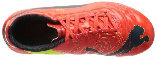 Puma  evoPOWER 4 AG Jr, Chaussures de foot pour garçon gelb / lila / blau - fluro peach-ombre blue-fluro yellow
