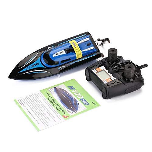 Jacobden Barco RC de alta Velocidad 2.4GHz Barco de Control remoto de carreras de 4 Canales Con pantalla LCD Como Regalo para niños Juguetes Regalo para niños -