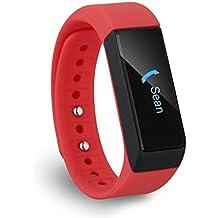 Diggro I5 Plus Oled Pulsera Smart Bluetooth (Pantalla Táctil, Podómetro, Seguimiento de calorías, Sleep Monitor) para Android IOS (Rojo)