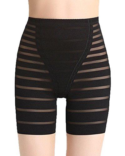 Donna pancere mutande contenitivo alta vita shapewear controllo corsetto snellente mutandine intimo lace body shaper mutande nero l
