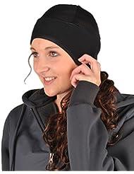 HKM - Gorro (forro polar y tul), color negro