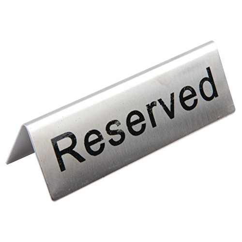 Restauration Appareil u051 en acier inoxydable table sign-reserved (Lot de 10)