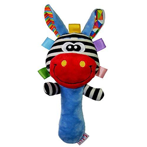 Dessin Animé Girafe Peluche Jouets Bébé Enfants Cloche à Main Clochette Rouge Hochet
