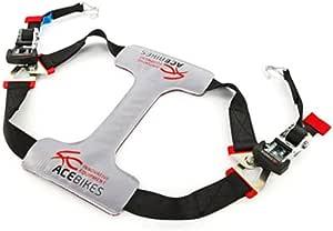 Ace Bikes Acebikes Tyrefix Basic Motorcycle Lashing Strap Grey Black Universal Load Securing Auto