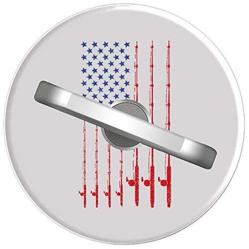RAHJK Telefon Handy Ring Patriotische Amerikanische Flagge Angelrute, 360 Grad drehbar Finger Ring Griff Handy Halter kompatibel mit Smartphones und Tablets 1U757
