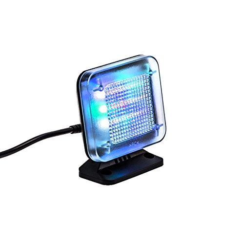 fernseh simulator kobert goods - LED TV-Simulator, durch Lichtsimulation zum Einsatz als Einbruchschutz, Home-Security, Fernseh-Atrappe/Fake-Fernseher, mit 12 LED's und 3 wählbaren Programmen, Zeitschaltuhr