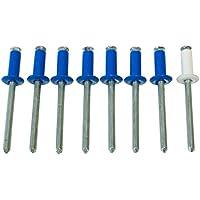 Cora 000116010 Kit 8 Remaches Matrícula 7, Color Azul y Blanco