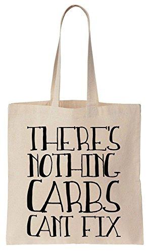 Preisvergleich Produktbild There's Nothing Carbs Can't Fix Cotton Canvas Tote Bag Baumwollsegeltuch-Einkaufstasche