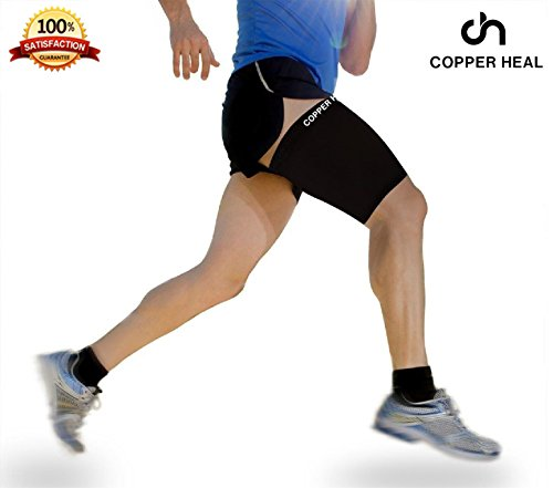 Oberschenkelkompressions-Erholungshülsevon COPPER HEAL Wiederherstellen Sore Pulled Kniesehne Leiste Schmerzen Schmerzen Verstauchungen Tendinitis Verletzung Quadricep Muskel-Träne QuadUnterstützung