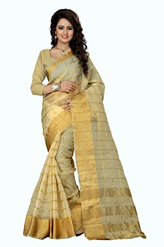 sarees (Women's Clothing Saree For Women Latest Design Wear Sarees Collection in Multi-Coloured Cotton Silk Material Latest Saree With Designer Blouse Free Size Beautiful Bollywood Saree For Women Party Wear Offer Designer Sarees With Blouse Piece)  available at amazon for Rs.849