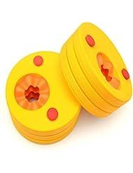 Bébé Enfants coloré flotteur Disques Apprendre à Nager Brassard Lot (lot de 6)