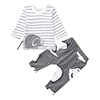 Rosennie Romper Dungarees for Kids Baby Girls Soft Jumpsuits Clothes Toddler Boys Striped Elephant Print Tops Pants Set Casaul Outfits Lovely Fashion Shirts Infant Coat and Jackets Newborn Bodysuit