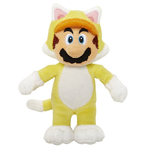 Mario Bros - World of Nintendo Super Mario: Cat Mario Plush, 15 cm (Jakks Pacific JAKKNINPLUSHCATMARIO)