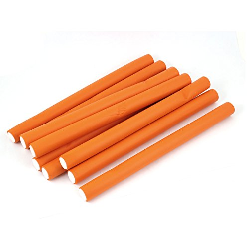 10pcs Curler Makers Soft Foam Diy Styling Hair Rollers Orange