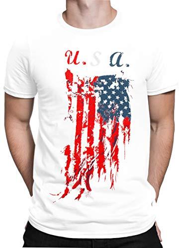 Emma & Giovanni - Baumwolle T-Shirt mit Aufdruck - Made in Italy - Herren (USA, XL)