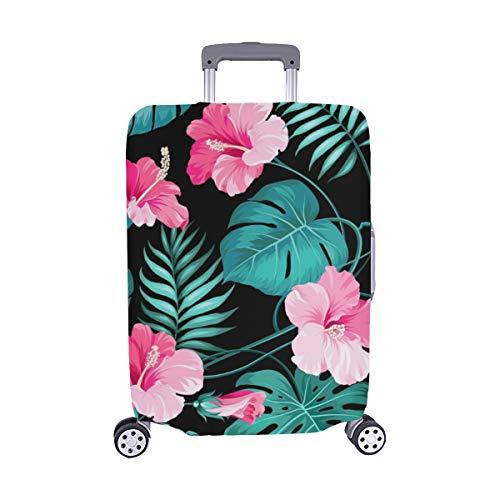 Tropische Blumen Dschungel Palmen Nahtlose Textur Muster Spandex Staubschutz Trolley Protector case Reisegepäck Beschützer Koffer Abdeckung 28,5 X 20,5 Zoll - Dschungel-palme