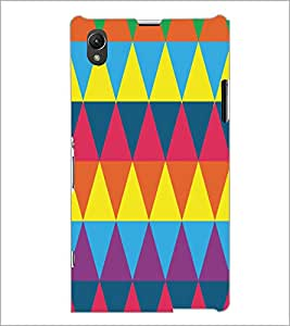 PrintDhaba Pattern D-5172 Back Case Cover for SONY XPERIA Z1 (Multi-Coloured)