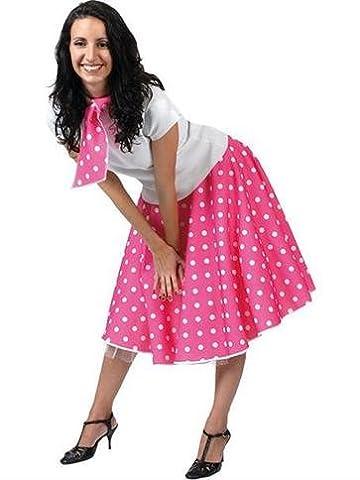 Rock'n'Roll Rock Pink - Erwachsene Kostüm (Seemann-mädchen-kostüm-plus Size)