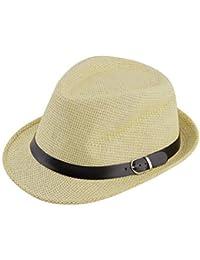 Yogasada Cap Elegante Sombrero del Verano del Sombrero de Paja del  Casquillo del salacot Fedora del 18557e63658