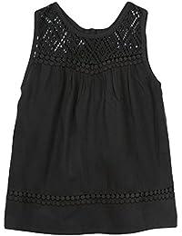 3POMMES Blouse sans manches fille Noir  9-10 Years (Manufacturer size: 9/10A)
