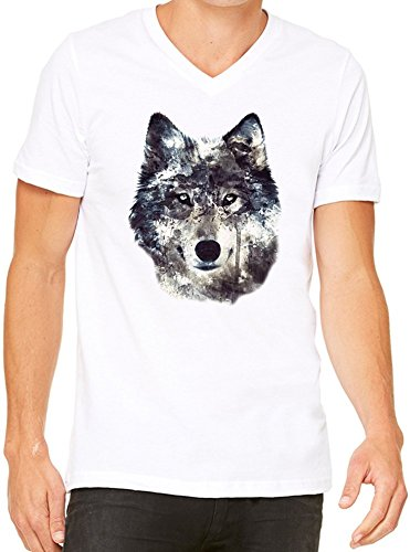 wolf-illustration-mens-v-neck-t-shirt-x-large