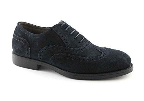 NERO GIARDINI 4391 blu colorado scarpe uomo eleganti puntale inglese Blu