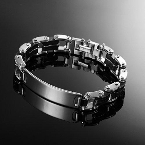 Jiayiqi Bracelet Chaîne Réglable Bracelet Poignet à Maillons Acier Inoxydable Hommes No.6