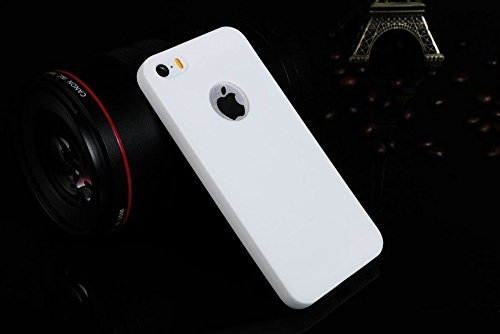 mStick Candy Color Ultra Slim Soft Silicon Back Cover For Apple iPhone 5 / 5S / SE WHITE  available at amazon for Rs.99