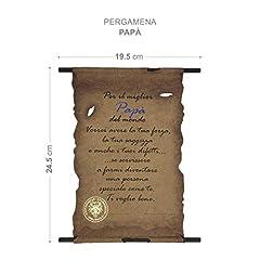 Idea Regalo - Pergamena Biglietto Auguri Compleanno Idea Regalo Festa Del  Papá