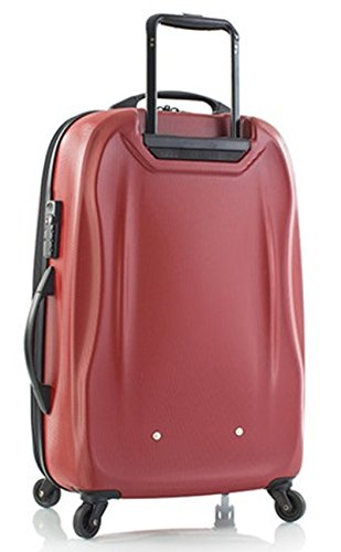 ... 50% SALE ... PREMIUM DESIGNER Hartschalen Koffer - Heys Crown SuperLite Grau - Trolley mit 4 Rollen Gross Rot