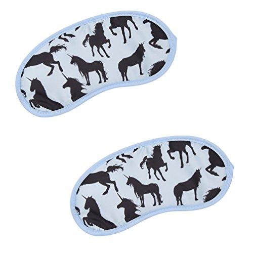 Kesheng 2pcs Antifaz Unicornio para Dormir Máscara del Ojo de Sueño 19x9cm