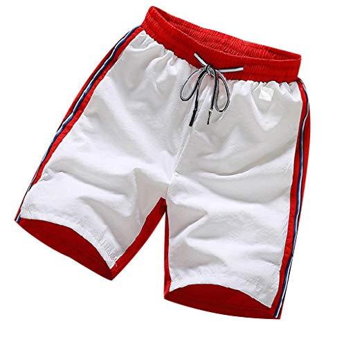 GKOKOD-Shorts 2019 Herren Kurze Hose Sommer Baumwolle Hose Rein Farbe Multi-Pocket Overall Mode Pants, Jet Lag Cargo Hose -