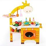 Giocattoli Per Bambini Cartone animato Giraffa Cosplay Ragazzi Ragazze Cucina Set da cucina Frutta Taglio di verdure Lavaggio Giocattolo per bambini Sviluppo Età precoce Educativo Pretend Gioca Cibo A