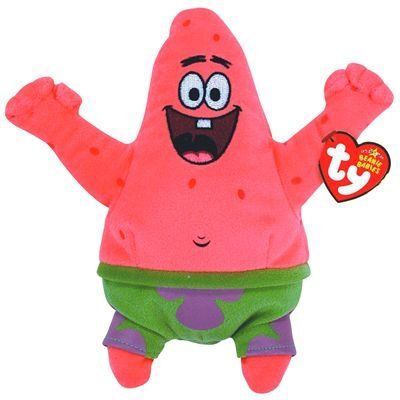 TY 7140467 - Spongebob - Patrick Seestern Best Day Ever, 15,2 cm, Beanie Babies (Patrick Of Best Star)