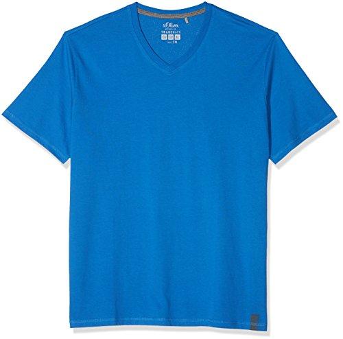 s.Oliver Big Size Herren T-Shirt 15.802.32.3227, Blau (Royal Blue 5545), XXXX-Large (Herstellergröße: XXXXX-Large) (Männer-hemd Royal Blau)
