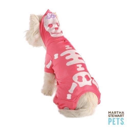 Skelett Hunde Für Kostüm - Martha Stewart Glitter Skelett Hund Kostüm Medium