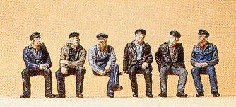 preiser-1-87-asme-pr10351-railway-modelling-lavoratori-e-dockers-seduto